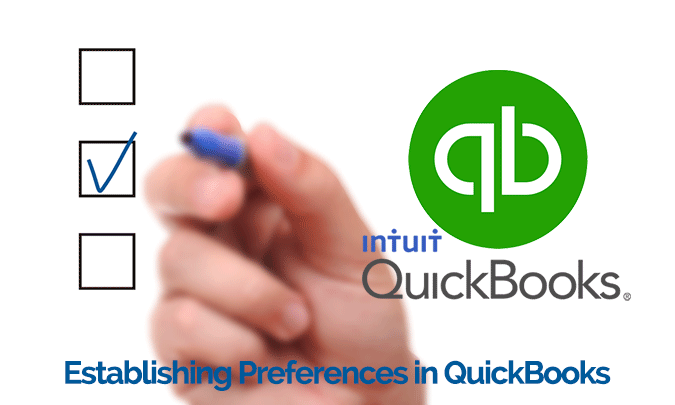 Establishing Preferences In QuickBooks