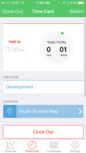 clocked in mobile - TSheets - Time tracking built for QuickBooks