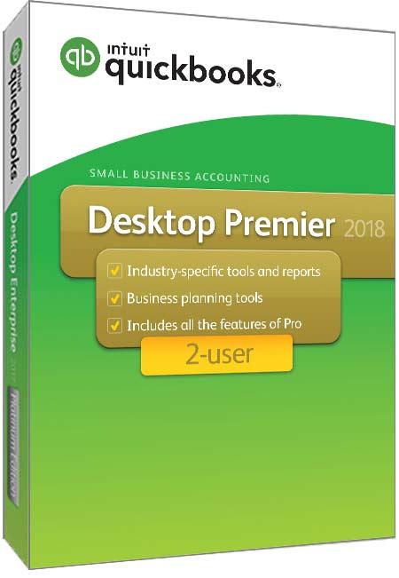 QuickBooks Products QuickBooks Premier 2018 2 user