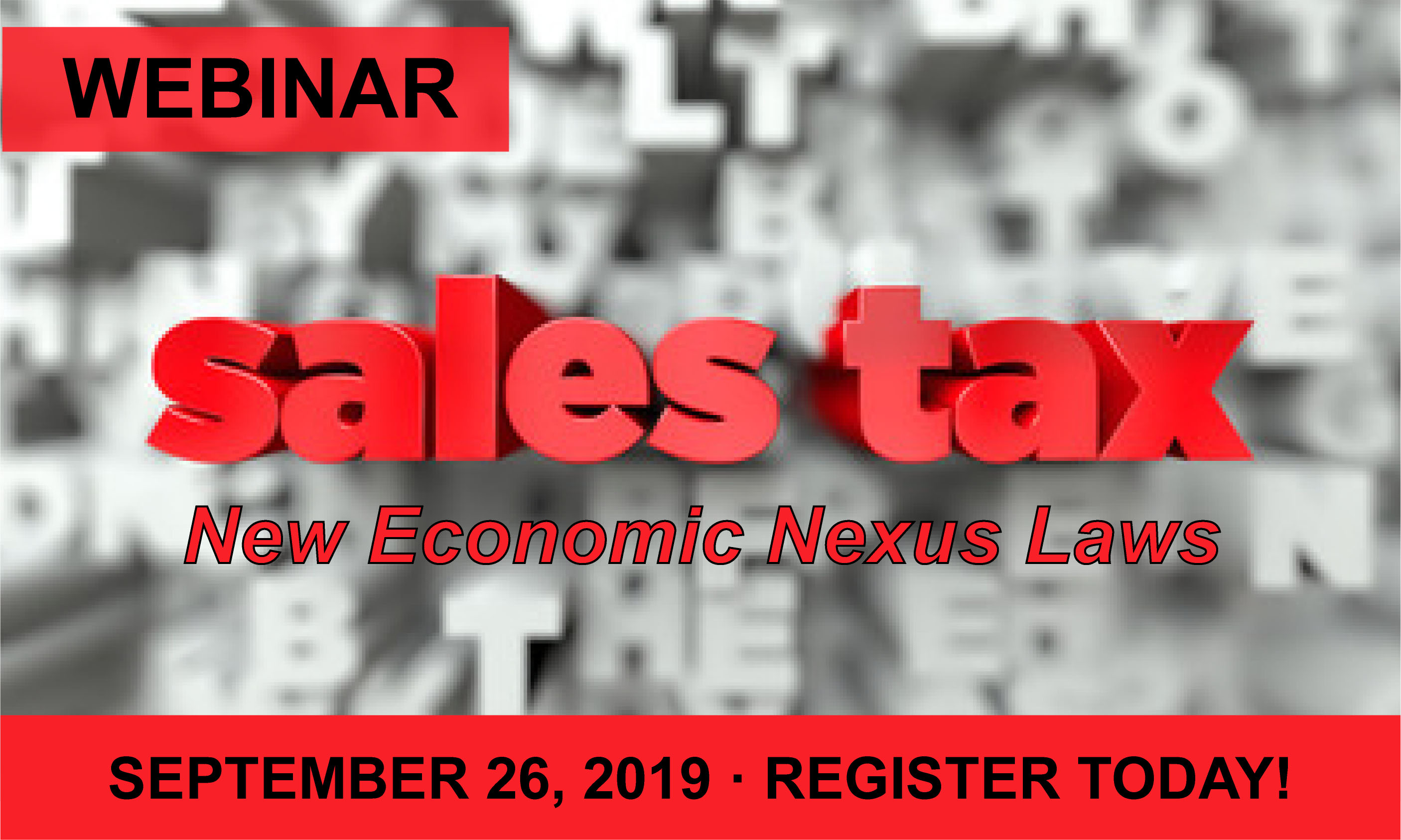 Webinar: Sales Tax Changes And Great Tool For Automating Calculations!