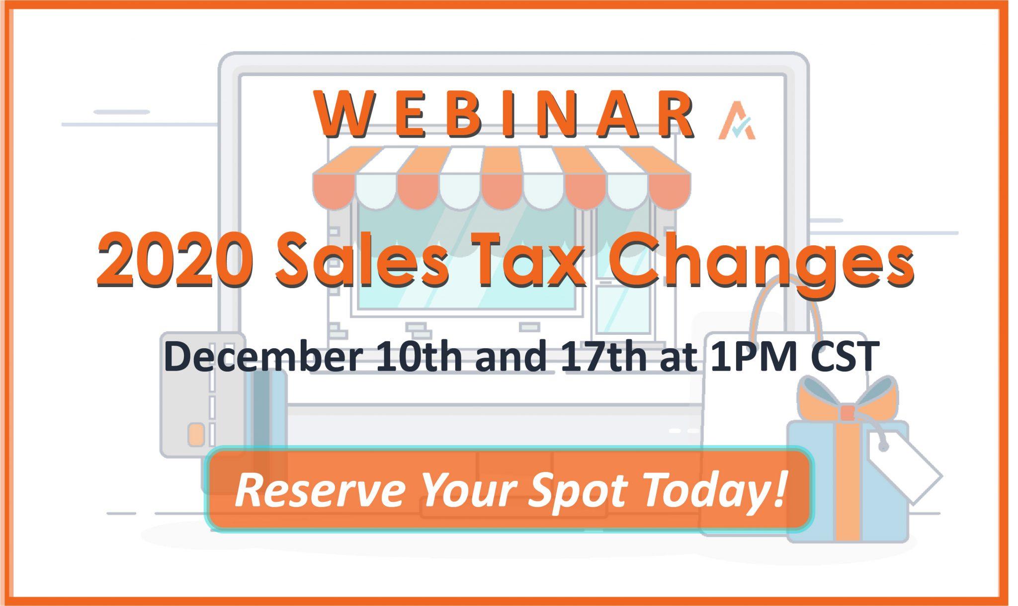 2020 Sales Tax Changes Webinar