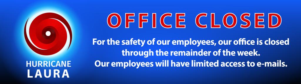 Hurricane Laura_Office Closed