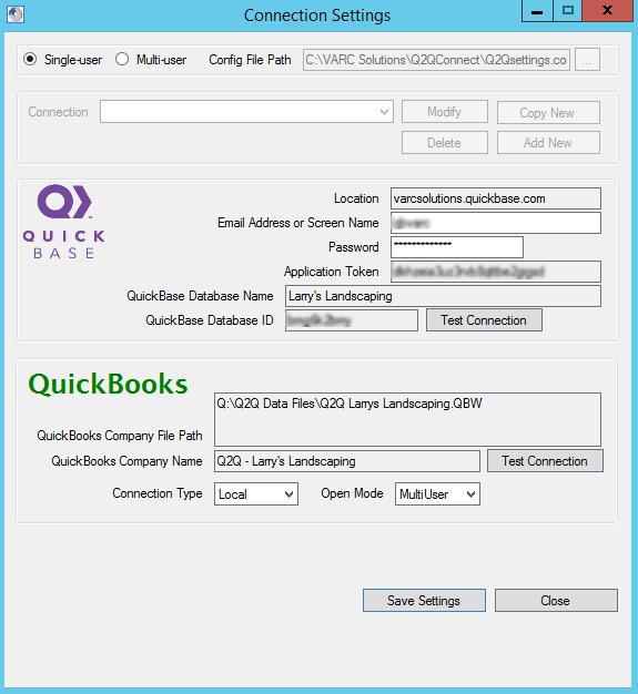 Q2QConnect Configuration